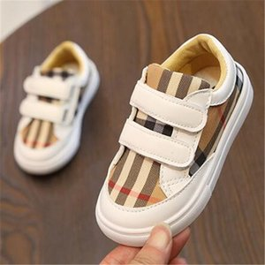 2020 Spring Autumn New Hot Selling Fashion Plaid Children Casual Shoes Soft Sole Breathable Girls Boys Flat Shoes Infant Prewalker Shoes