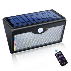 Solar-Außenwandleuchte 60 LED 1300lm super helle Upgraded-Leuchten für Außenwand Yard Garten mit fünf verschiedenen Modi In One Solar-Lampen
