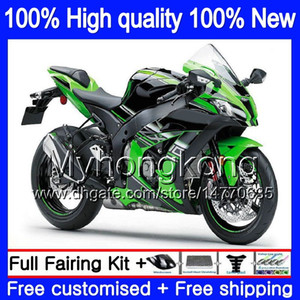 Injection OEM For KAWASAKI ZX-10R 1000CC 2016 2017 2018 335MY.0 ZX1000 ZX 10 R ZX 1000 ZX 10R ZX10R 16 17 18 100% Fit Fairing Stock green
