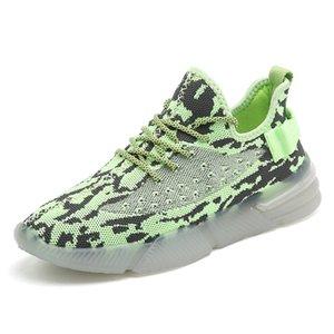 Scarpe SUPZ vendita calda riflettente sport, moda superiore Fly Knit Flashing ragazze dei ragazzi fluorescenti delle donne degli uomini Running Atletica scarpe da tennis