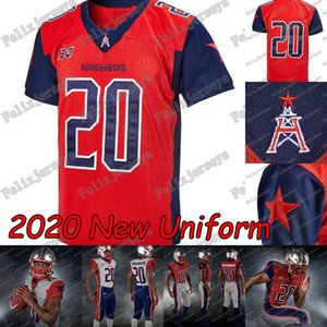 2020 Houston Roughnecks XFL Football Maillots Phillip Walker Connor Faire cuire Kyle Hicks Andre Williams Nick Holley Akrum Wadley Marquez Williams
