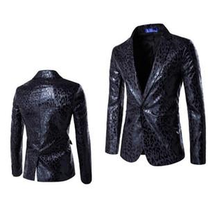 Европейский и американский стиль личности мода одна кнопка костюм леопардовый костюм костюм жених платье мужская куртка