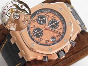 JF V2 Üst versiyon Lüks 26470 Saatler İsviçre Cal.3126 Otomatik mekanik saatler kronograf Rose Gold Vaka 42mm Erkek İzle