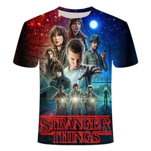 2020 neue 3D-Druck T-Shirt seltsamere Dinge 3 T-Shirt für Männer Kinder Kurzarmshirts Hot TV-Serien Shirt Turnhalle Camiseta Kind