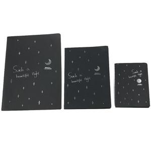 1 PC Notebook Preto pirata Notepad Sketchbook Diário desenho pintura de papelaria Livro Graffiti Tampa Esboço Gift Paper 28 páginas