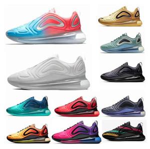 (Con la scatola) Nuovo 720 Running Shoes Grigio Full Carbon attenuato Uomini Neon Triple Nero 72C argento metallizzato Chaussures scarpe da ginnastica 36-45