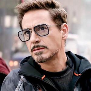 Luxus Mode Rächer Tony Stark Flugstil Mann Sonnenbrille Männer Platz Markendesign Sonnenbrille Oculos Retro männlich iron Man 3