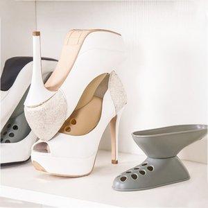 Startseite Display Rack PP Sneakers Speicher Double Layer Platzsparend Hohe Absatz Schrank steht beweglichen Schuh-Organisator