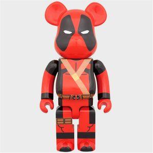 HOT 400 % 28CM 어벤져 영화 Bearbrick Deadpoo 곰 @ 예술 작품 모델 장식 장난감 선물을 RBRICK 될 수집기를 들어 장난감 인물