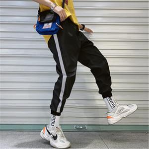 Streetwear Hip hop Joggings hommes déliés sarouel longueur cheville Pantalons Sport Casual Pantalon blanc Techwear