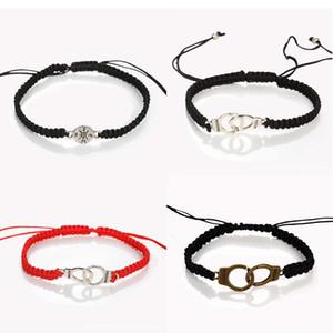 Adjustable Handmade Braided Handcuffs Bracelet Simple Tassel Charm Bracelet Girls Friendship Bracelet for Men Women