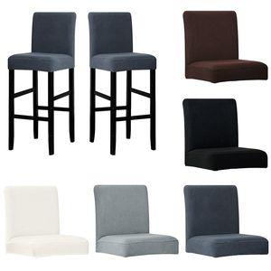 1 pieza de tela polar posterior del cortocircuito pequeño tamaño de la silla cubierta lavable del asiento elástico Stretch Covers Fundas para el banquete del hotel