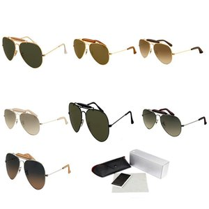 Metal Pilot Sunglasses Uomo Donna Oval Frame frog mirror Prescription Athletic Eyeglasses Retro Designer Occhiali da sole High end Occhiali 3422