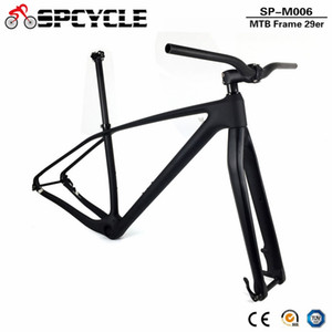 Spcycle T1000 de Carbono total de MTB bicicleta Frameset 27.5er 29er Mountain Bike Carbono Quadro + Fork + Seaptost + Stem + Guiador Set