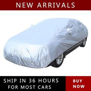 Plein jour Car Cover Vent léger poussière Anti UV Sun Scratches Cover Protector Argent Taille S-XXL Accessoires voiture