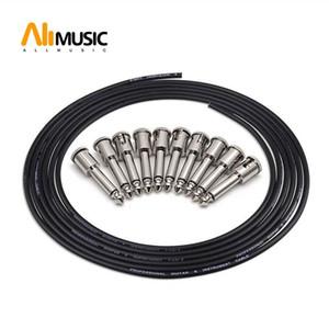 납땜 연결 디자인 기타 케이블 DIY 기타 페달 패치 케이블 키트 (10) 납땜 해협 플러그 3M 케이블 및 커터