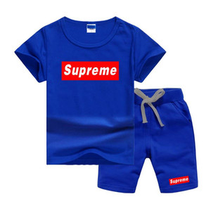 SPE logotipo clássico de luxo Designer Boy Set 2-7T recém-nascidos Baby Kids Boys And Girls Tops T-shirt e calças 2PCS Outfits Set Clothes