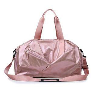 Glossy Yoga Mat Bag Fitness Gym Bags Dry Wet Tas Handbags For Women Men Shoes Travel Training sac De Sport Pink gymtas Duffel