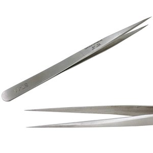 LASHVIEW Vetus Pointed Perfect Craft Fine Angled Removal Stainless Steel Tip Straight Tweezers For Profissional Grafting Eyelash extension