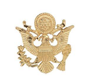 Lüks ABD Ordusu Kartal Kanatları Broş Rozeti erkek Takım Elbise Broş Moda Retro Broş Metal Yaka Pin Toptan 12 adet / grup