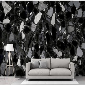 New modern black and white gray marble wallpapers background wall 3d stereoscopic wallpaper