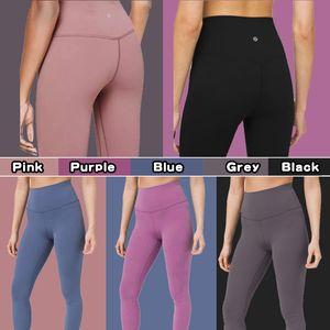Pantalon de yoga Livraison gratuite LU-32 pantalons de yoga femmes solides taille haute de sport Collants de sport d'entraînement Tenues de sport pour dames