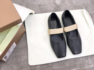 New style women Ballet flats square toes casual shoes Alphabet elastic flats genuine leather lady dress shoes free shipping
