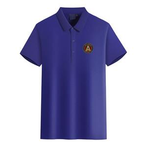 Moda Golf Polo T-shirt dos homens do logotipo Atlanta United FC Football Club shirt dos homens de manga curta polo T