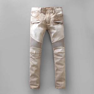 Patchwork Mens Designer Denim Pants New Style Casual Skinny Sweatpants Mens Designer Jeans Drop Crotch Jogging Pants Mens Jeans