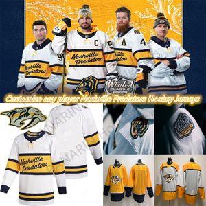 2019-2020 Invierno Classic Nashville Predatorse Jersey Personalizado Cualquier jugador Cualquier tamaño de número S-XXXL Jersey de hockey blanco