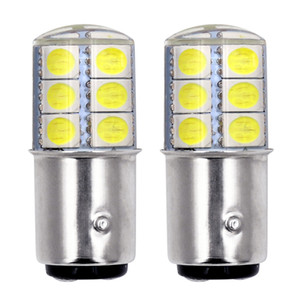 10X 1157 BAY15D P21 / 5W 2W 2835 SMD 12 LED Auto-Weiß-Rot, Gelb, Blinkerlicht Lampe Corner Silikon-Birnen-Auto-Zubehör
