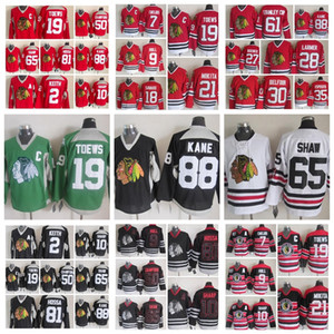 Fashion Retro Chicago Blackhawks Jersey 9 Bobby Hull 7 Chris Chelios 18 Denis Savard 19 Jonathan Toews Red Mens Stitched Hockey Jerseys