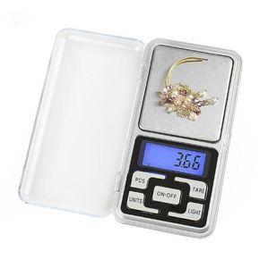 Nuevo llegan los 500g / 0.1g joyería de la escala de bolsillo electrónico digital Mini Pesar LCD Equilibrio Azul Función de conteo g / TL / oz / ct