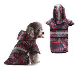 Reflective Dog Raincoat Gratuit Veste, Dog Rain Jacket Rainy Dog Days Slicker coeur de la mode Animaux de grande taille Hot vendeur
