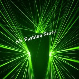 SJ81 DJ stage show usa luvas laser verde iluminado óculos laser traje de dança levou robô desempenho dos homens veste projetor clube do partido show