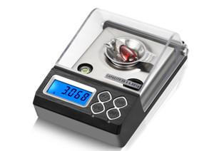 Высокая точность цифровой Counting Карат Весы портативные электронные весы 20g / 30g / 50g / 0.001g Для Весы ювелирные Лабораторные алмазный порошок