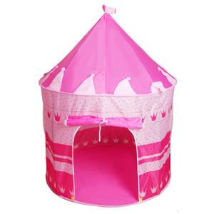 Tende per bambini Princess Prince Castle Yurt tenda da gioco a molla in poliestere intrecciata con gioco di giocattoli interattivo