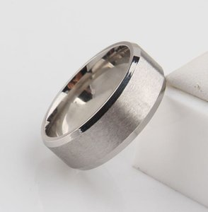 2020 quente gratuito 2018 clássico de prata tom de noivado homens ampla 6mm anéis anéis de aço de tungstênio 316L para homens preço de atacado EUA tamanho 6-14