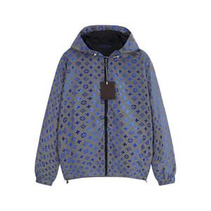 Mens Designer Jacket Veste à capuche Fashion Marque coupe-vent réfléchissants pour Hommes Femmes Luxe Zipper Logo Manteau Gaze Veste intérieur