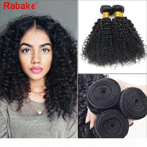 Rabake Kinky Curly Brazilian Virgin Hair Weave Bundles 100% Unprocessed Curly Human Hair Extensions 8-28inch 3 4pcs Wholesale Cheap Price