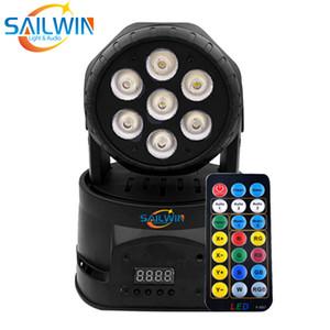 Baratos Sailwin 7X10W 4em1 LED RGBW Moving Head Wash feixe Efeito de Luz DJ Stage Iluminação Com o Remote Partido Disco Controle