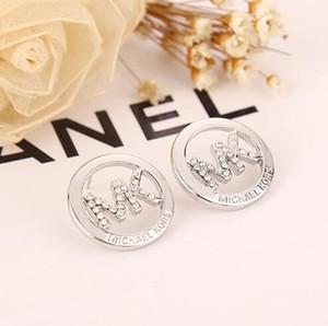 Donne orecchini monili di lusso di marca senza scatola di Pandora 925 Silver Crystal diamante delle donne Orecchino