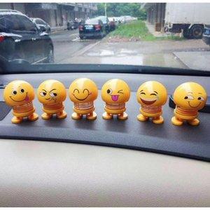 Бесплатный DHL Горячее надувательство Автомобиля Emoji Встряхнуть Голову Автомобиля Трясти Голову Куклы Эмоции куклы милые весенние Аксессуары Украшения Автомобиля