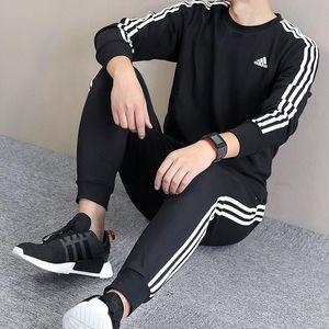 2019 adidas Marca de Moda de Nova Suit Men Sportswear Imprimir Men Hoodies pulôver Hip Hop Mens agasalho com capuz Roupa