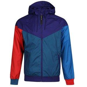Мужчины моды куртки 5 стилей с капюшоном Ветровка новорожденных марка для мужчин Для женщин Спорт капюшоном Ветровка куртка оптового