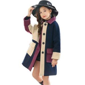 Escudo invierno de las muchachas del bebé del niño de la chaqueta rompevientos Abrigo de chicas adolescentes chaquetas Niños prendas de vestir exteriores de lana ropa de abrigo para niños