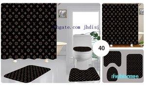Sala De Banho Hang Shade Homens E Mulheres Chuveiro Cortinas Cortina Divisória Pendurada Imprimir Carpete 3 Peças Novo Estilo Livre Transporte