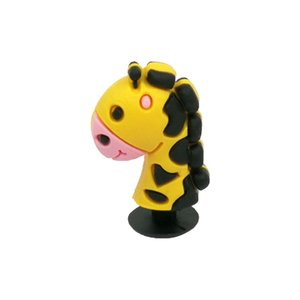 1PC custom 3D giraffe shoe charms pvc shoe charm bebes accessories soft rubber jibz for shoes promotional as kids gift