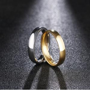 DOTIFI 316L Anillos de acero de 4 mm para las mujeres joyería simple anillo de bodas FashionEngagement
