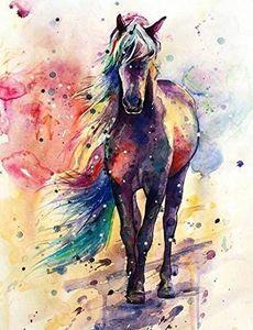 5D Полного Drill Алмазной Картина Kit DIY алмаз Картина вышивка искусство Craft Home Decor (Красочные лошади Алмазной Картины Kit)